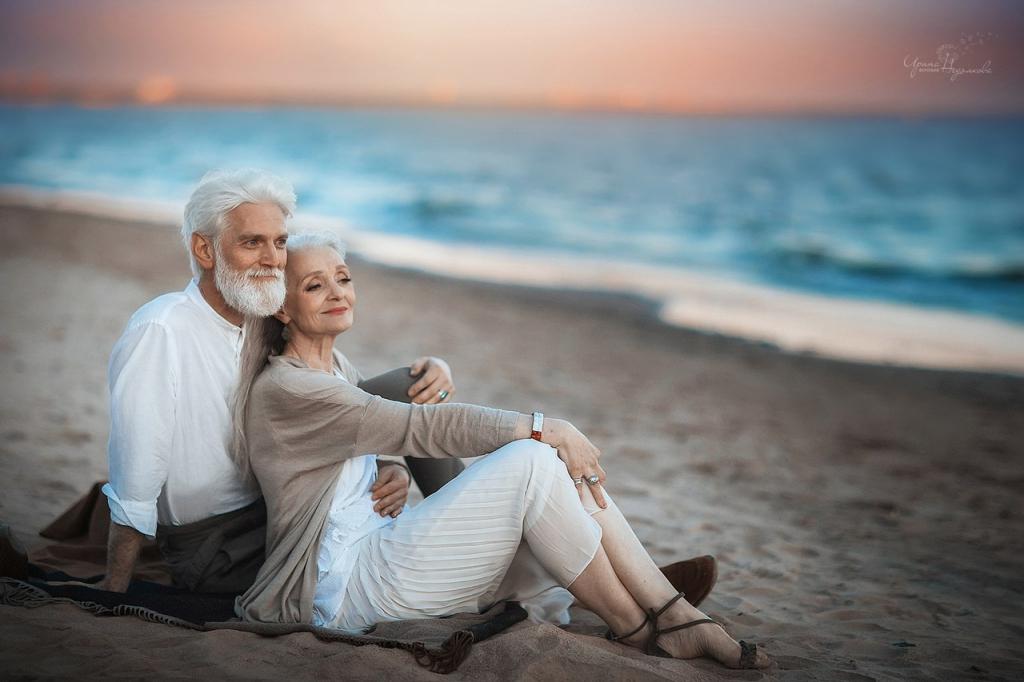 Пожилая пара занимается любовь