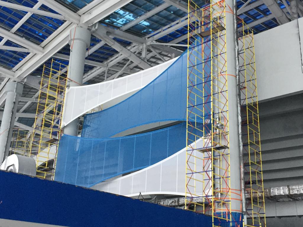 Настадионе «Нижний Новгород» начался монтаж фасада