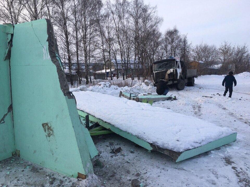 ВБогородском районе МАЗ врезался востановку