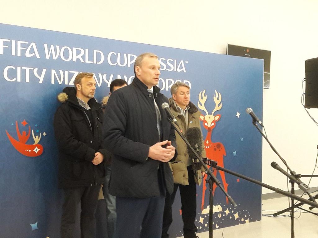 ФИФА вовремя визита вРФ отметила хорошую подготовку стадионов кЧМ