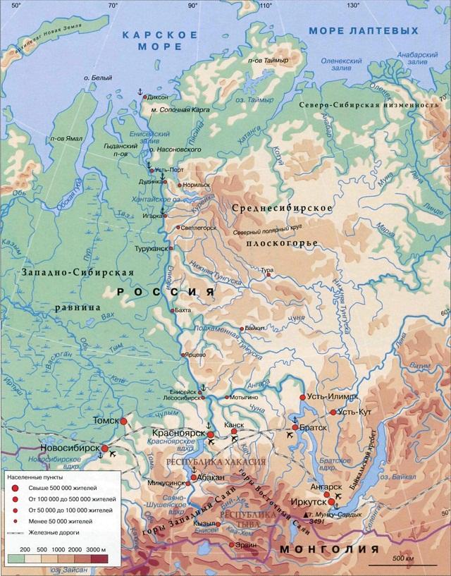 На каком материке находится река енисей где начинается