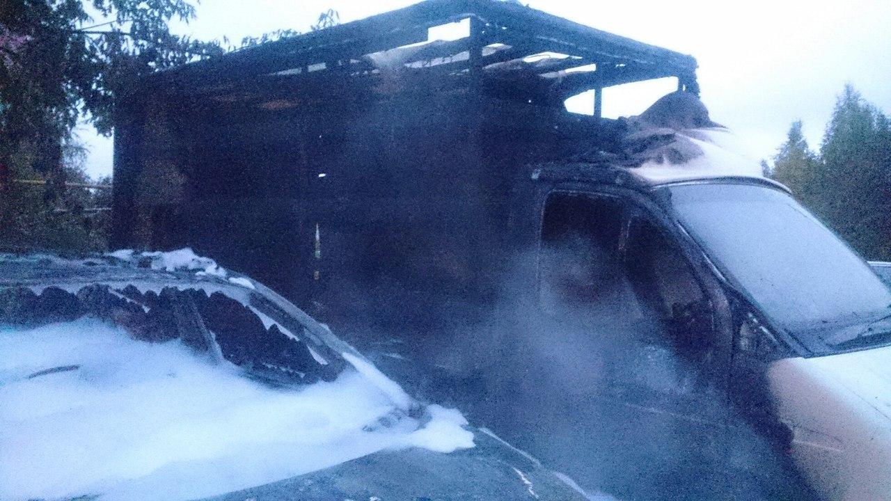 Иностранная машина сгорела дотла вНижегородской области