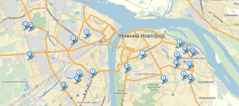 карта места шлюх