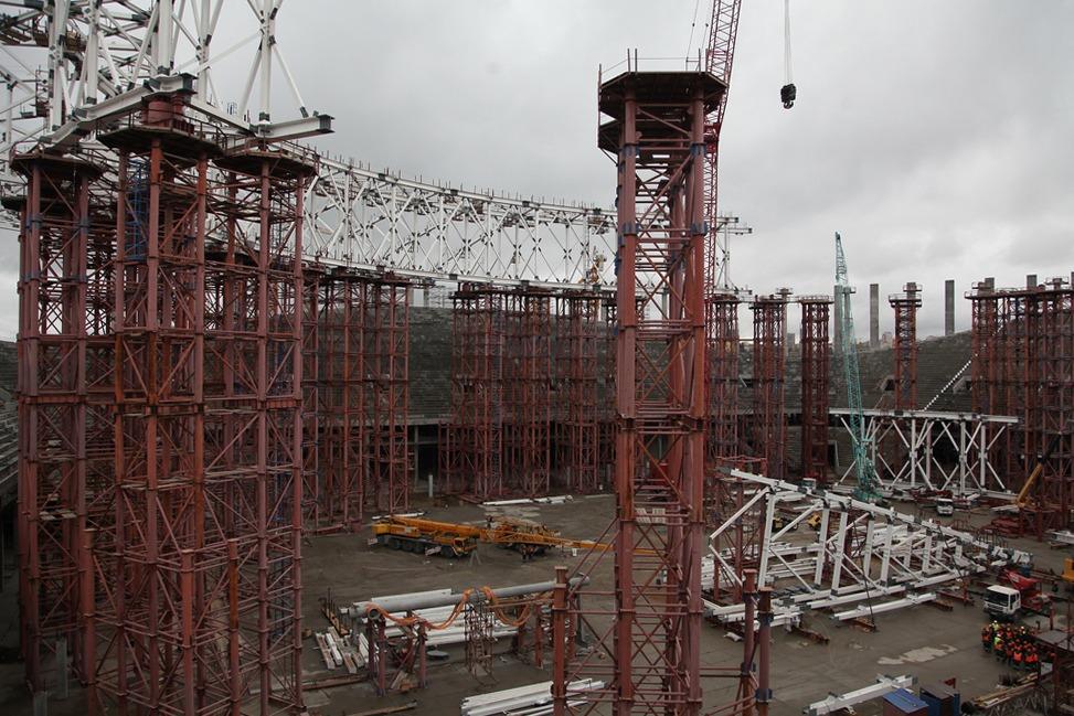 Каркас крыши стадиона «Нижний Новгород» возведен на20%