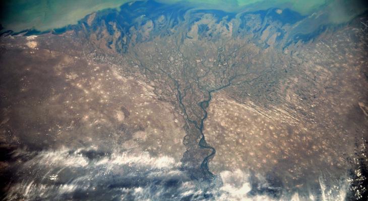 Российский астронавт сделал снимок Волги из космоса
