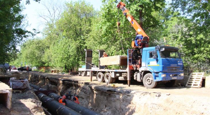 Теплоэнерго заменит магистральный трубопровод в центре города к началу июля