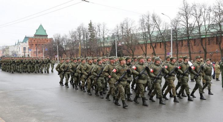 Первая репетиция Парада Победы прошла в Нижнем Новгороде