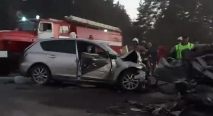 Смертельная авария в Балахнинском районе унесла жизни трех человек (ВИДЕО)