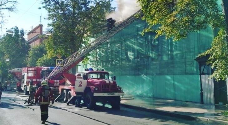 Названа предварительная причина пожара в Литературном музее имени Горького