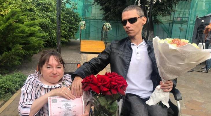 ВНижнем Новгороде состоялась уникальная свадьба пары синвалидностью (ФОТО)