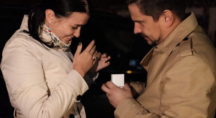 Нижегородец сделал предложение своей девушке на телебашне
