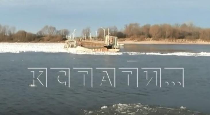 Ледоход на Оке отрезал поселок Тумботино от Павлово