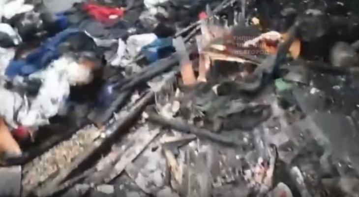 В сети появились первые кадры последствий пожара на Канавинском рынке