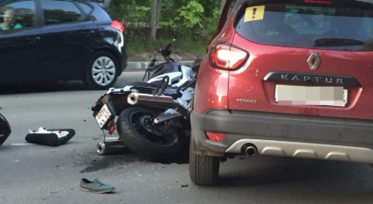 42-летний байкер разбился при столкновении с иномаркой в Арзамасе