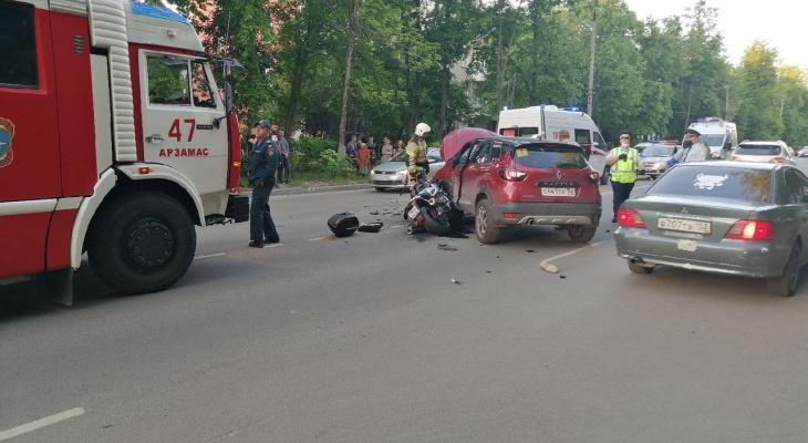 Появились подробности смертельной аварии с байкером в Арзамасе