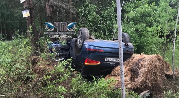 Иномарка улетела в кювет в Городецком районе: есть пострадавший