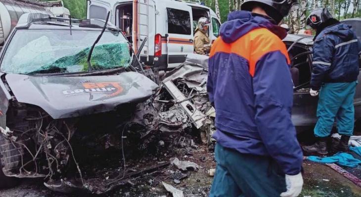 Четыре человека погибли вмассовом ДТП на трассе вБорском районе