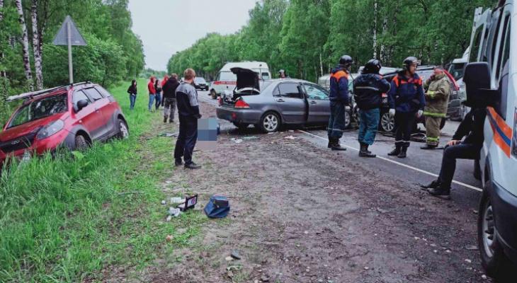 Момент смертельной массовой аварии в Борском районе попал на видео