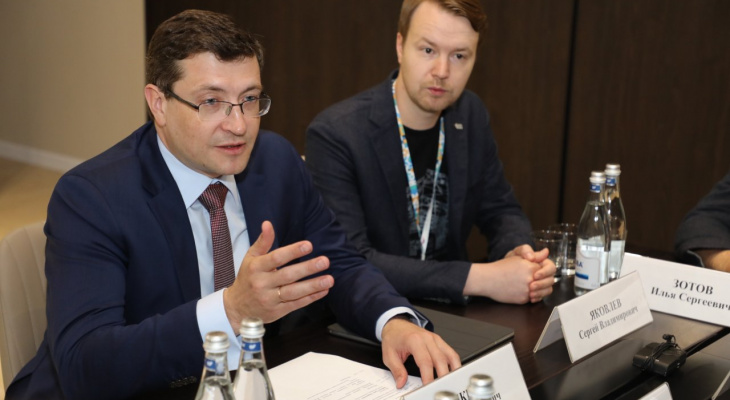 Глеб Никитин провел встречу с президентом ОСИГ Грантом Бабасяном и президентом World Media and Events Limited