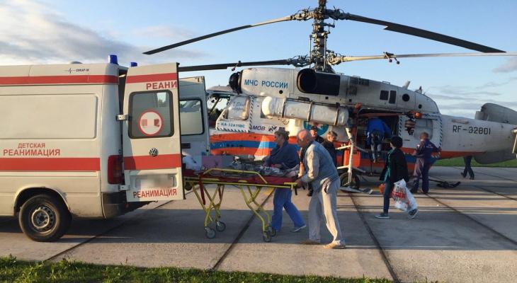 8 детей были эвакуированы на вертолетах в больницы Нижегородской области